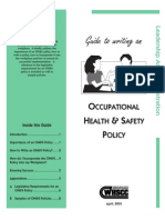 Guide to Writing an OHS Policy Statement