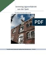 project sigarenfabriek van der spek haalbaarheidsonderzoek