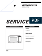 Samsung Microwave Model CE2733R Service Manual