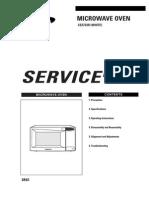 Samsung Microwave Model CE2733R Service Manual