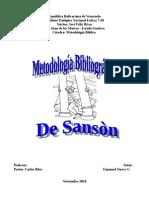 Metodología Bibliográfica de Sanson