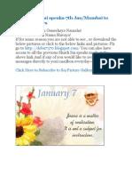 Shri Shirdi Sai Speaks for 7th Jan 2010