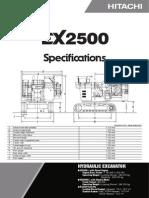EX 2500 especificaciones tecnicas