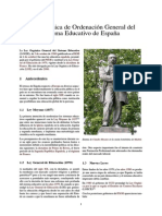 Ley Orgánica de Ordenación General Del Sistema Educativo de España