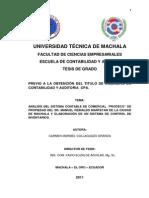"""ANÁLISIS DEL SISTEMA CONTABLE DE COMERCIAL """"PRODECO"""" DE PROPIEDAD DEL SR. MANUEL REINALDO MARFETAN DE LA CIUDAD DE MACHALA Y ELABORACIÓN DE UN SISTEMA DE CONTROL DE INVENTARIOS."""