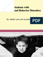 emotional behavioral disorders disability presentation