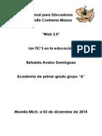 Escuela Normal Para Educadoras Profesor Serafín Contreras Manzo Web 2.0