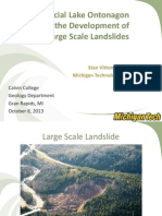The Development of Glacial Lake Ontonagon