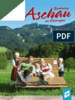 Gastgeber- und Imagebroschüre Aschau