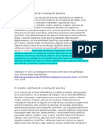 El Concepto y Significado de La Investigación Educativa