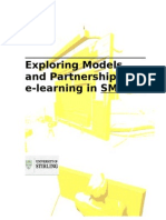 Exploring Models and Partnerships for e-learning in SMEs