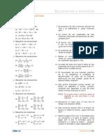 Ejercicios de Ecuaciones y Sistemas Cideac