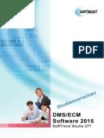 DMS Studie und ECM Studie 2015 - Kostenfreie Studienvorschau