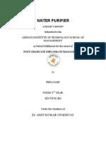 PRIYA water purifier.doc