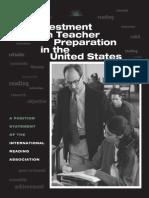 investment in teacher preparation in the u s
