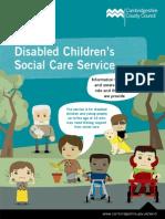 Social Care for Disabled Children Leaflet