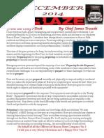 Beacon Hose newsletter - December 2014