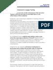 Evaluation of Communicative Language Teaching