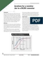 Design of Resistive Divider for DC DC Converter