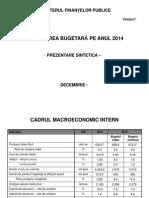 Prezentarea Ministerului Finanţelor privind a treia rectificare bugetară (2 decembrie 2014)