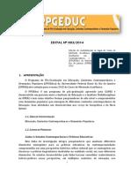 Edital Selecao PPGEDUC 2015