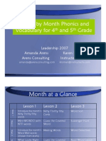 month by month phonics for 4th and 5th grade