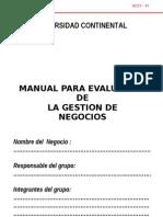 Manual para la evaluación de Gestión de Negocios