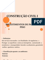 Const. Civil I. Aula 8 - Revest. Parede e Piso (1)