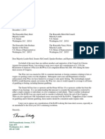 Citizens Against Government Waste Letter to House and Senate (12/01/2014)