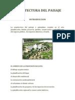 Reseña Historica de La Arquitectura Paisajista