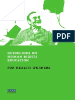 Global Human Rights Education for Health Workers
