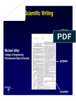 Technical writing by Michael Alley