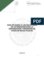 Guia Para Solicitudes de Autorización Casas de Bolsa FILIALES 22 Sep 14