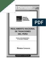 Nuevo Reglamento Tasaciones 2007