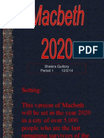 macbeth - casting project example