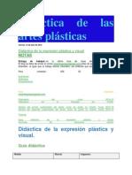 Didáctica de Las Artes Plásticas