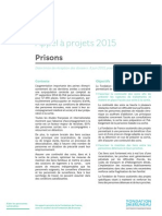 Prisons - appel à projets 2015 Fondation de France