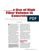 Future Use of High Fiber Volume in Concrete