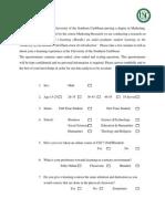 Group 2 Questionnaires