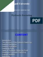 Hydraulic Fracturing design