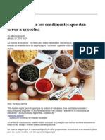 Aprende a Usar Los Condimentos Que Dan Sabor a La Cocina _ Noticias Uruguay y El Mundo Actualizadas - Diario EL PAIS Uruguay
