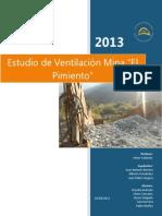 192105518 Estudio de Ventilacion Mina El Pimiento Docx