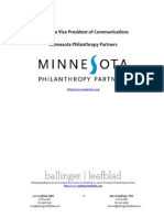 Minnesota Philanthropy Partners AVP Communications