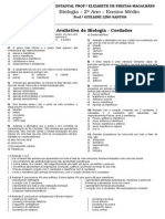 AVALIAÇÃO DE BIOLOGIA - 2° ANO - cordados