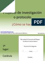 Cómo Escribir El Proyecto de Investigación o Protocolo