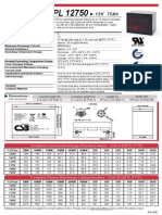 Bateria GPL12750