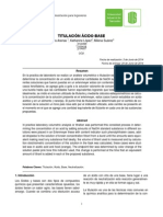 Informe 1. Titulacion Acido - Base
