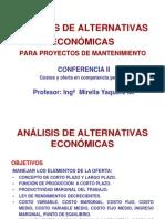 Conferencia II Análisis de Alternativas Económicas.mirella 2013