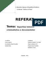 expertiza tehnico- criminalistica a documentelor