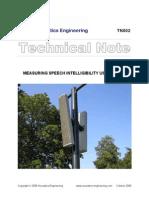 Measuring Speech Intelegibility Using Dirac
